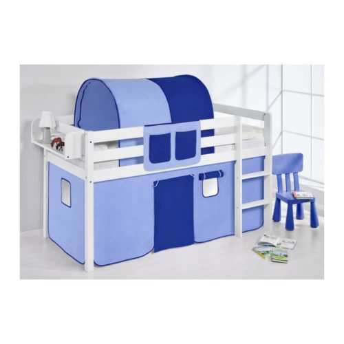 comprar cama bali con cortinas azul claro azul oscuro y somier