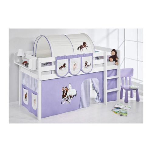 comprar cama bali con cortinas caballo lila y somier
