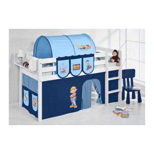 comprar cama bali con cortinas chico bob azul y somier
