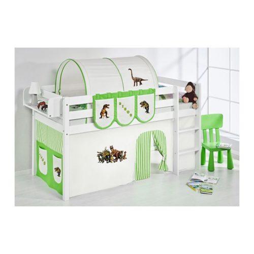 comprar cama bali con cortinas dinosaurio verde y somier