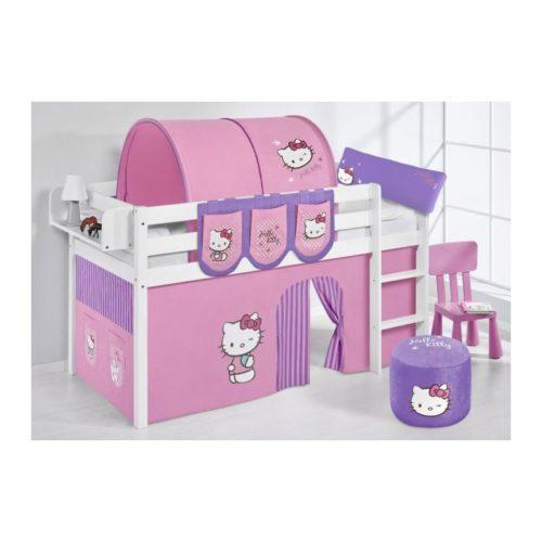 comprar cama bali con cortinas hello kitty lila y somier