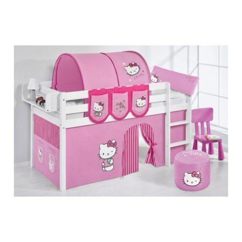 comprar cama bali con cortinas hello kitty rosa y somier