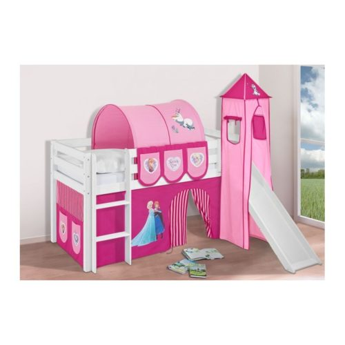 comprar cama bali con tobogan cortinas frozen rosa y somier