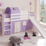 comprar cama bali con tobogan cortinas lila beige y somier-2