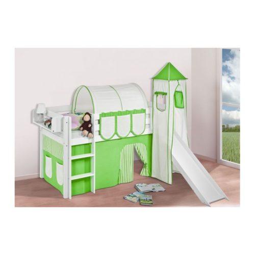 comprar cama bali con tobogan cortinas verde beige y somier