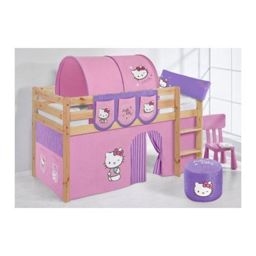 comprar cama bali natural con cortinas hello kitty lila y somier