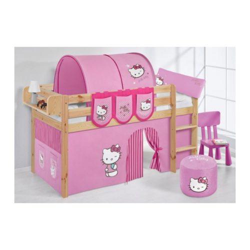 comprar cama bali natural con cortinas hello kitty rosa y somier