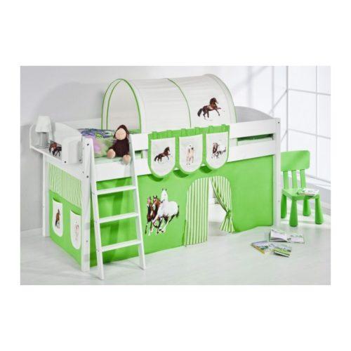 comprar cama corcega con cortinas caballo verde y somier