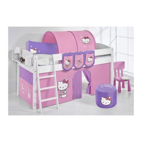 comprar cama corcega con cortinas hello kitty lila y somier