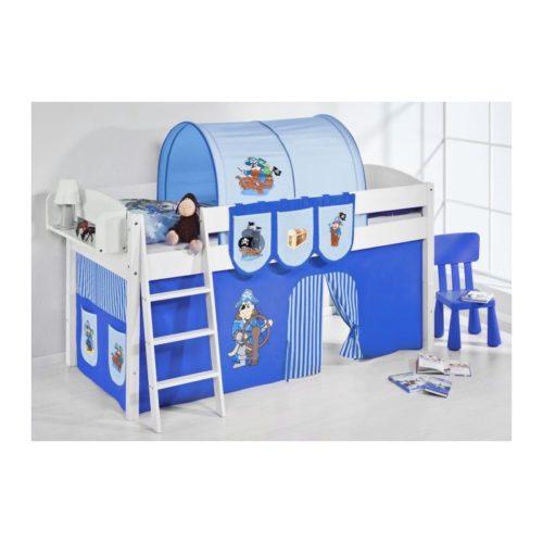 comprar cama corcega con cortinas pirata azul y somier