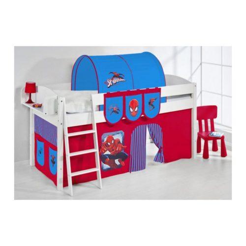 comprar cama corcega con cortinas spiderman y somier