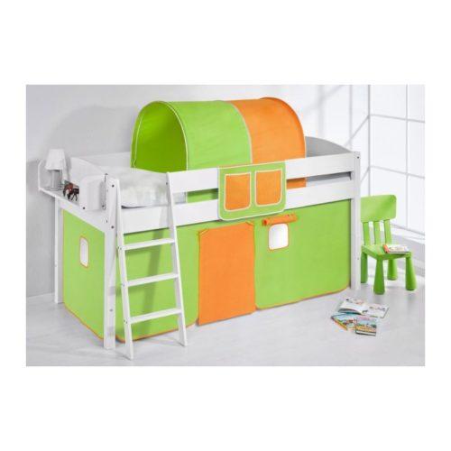 comprar cama corcega con cortinas verde naranja y somier