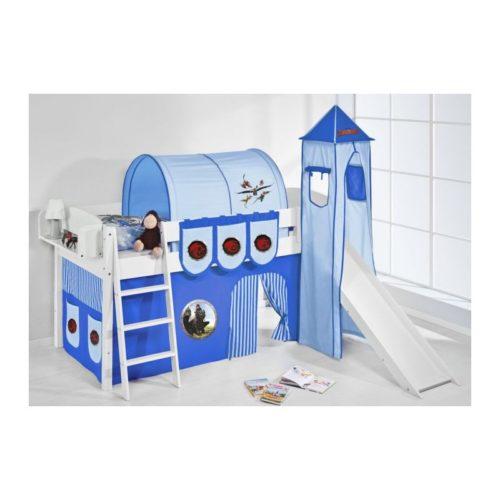 comprar cama corcega con tobogan cortinas dragon azul y somier
