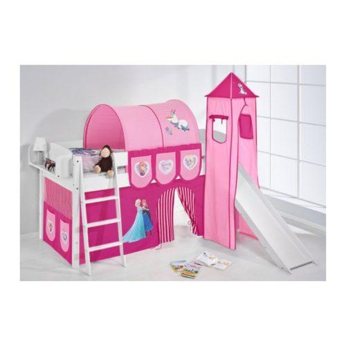 comprar cama corcega con tobogan cortinas frozen rosa y somier