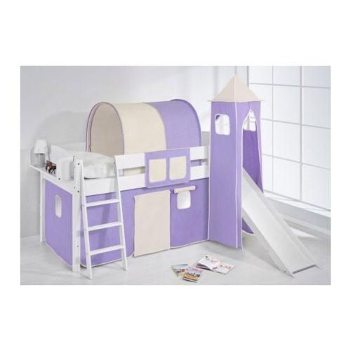 comprar cama corcega con tobogan cortinas lila beige y somier