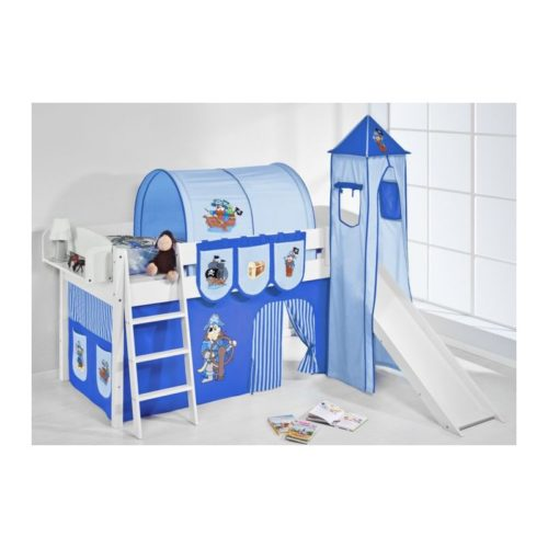 comprar cama corcega con tobogan cortinas pirata azul y somier