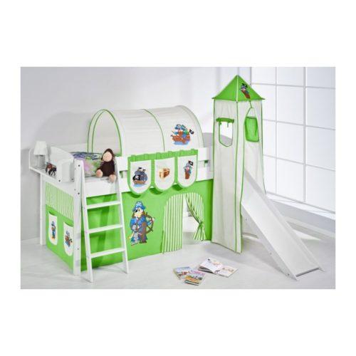 comprar cama corcega con tobogan cortinas pirata verde y somier