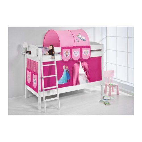 comprar litera creta con cortinas frozen rosa y somieres