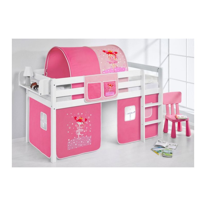 comprar cama bali con cortinas bailarina rosa y somier