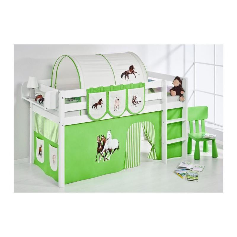 comprar cama bali con cortinas caballo verde y somier