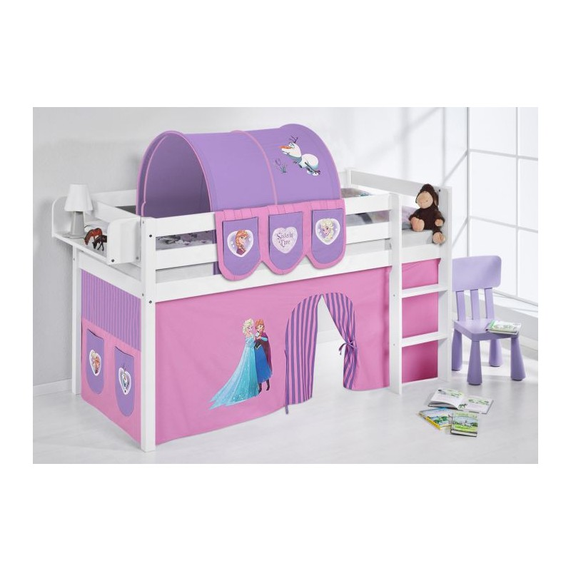 comprar cama bali con cortinas frozen lila y somier