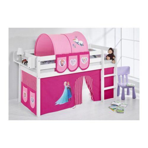 comprar cama bali con cortinas frozen rosa y somier