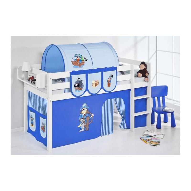 comprar cama bali con cortinas pirata azul y somier
