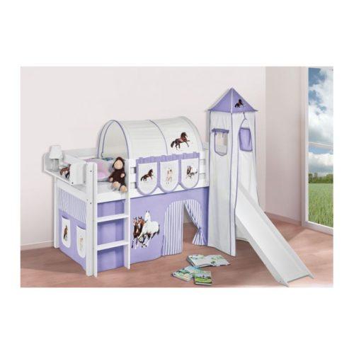 comprar cama bali con tobogan cortinas caballo lila y somier
