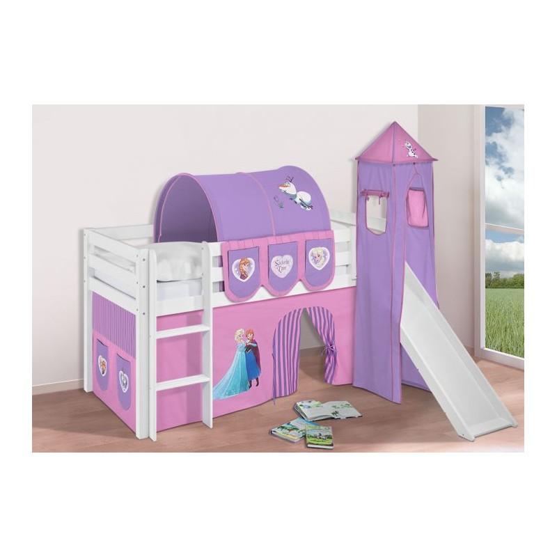 comprar cama bali con tobogan cortinas frozen lila y somier