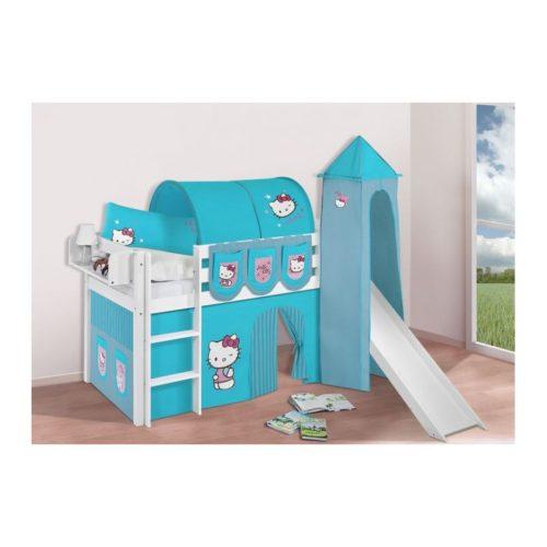 comprar cama bali con tobogan cortinas hello kitty azul y somier