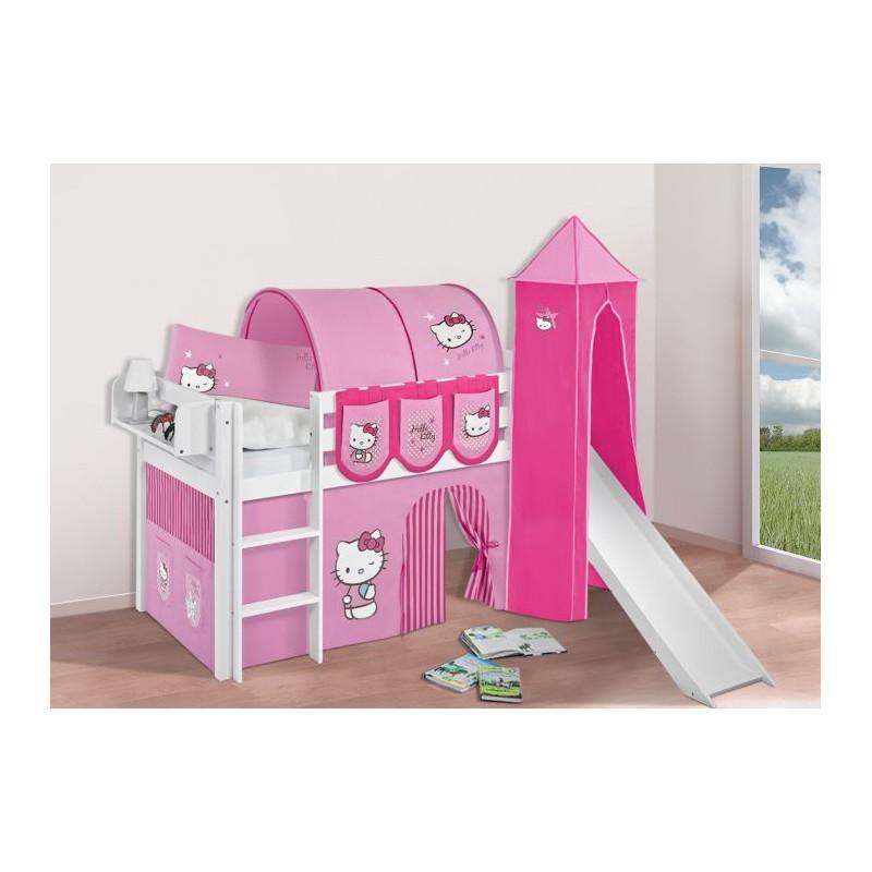 comprar cama bali con tobogan cortinas hello kitty rosa y somier