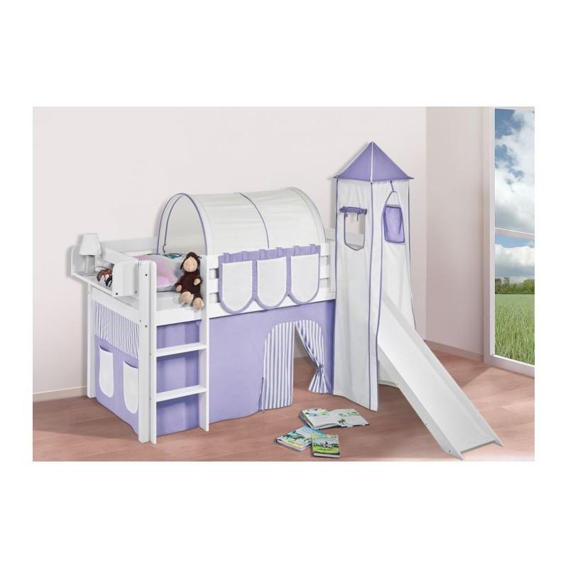 comprar cama bali con tobogan cortinas lila beige y somier