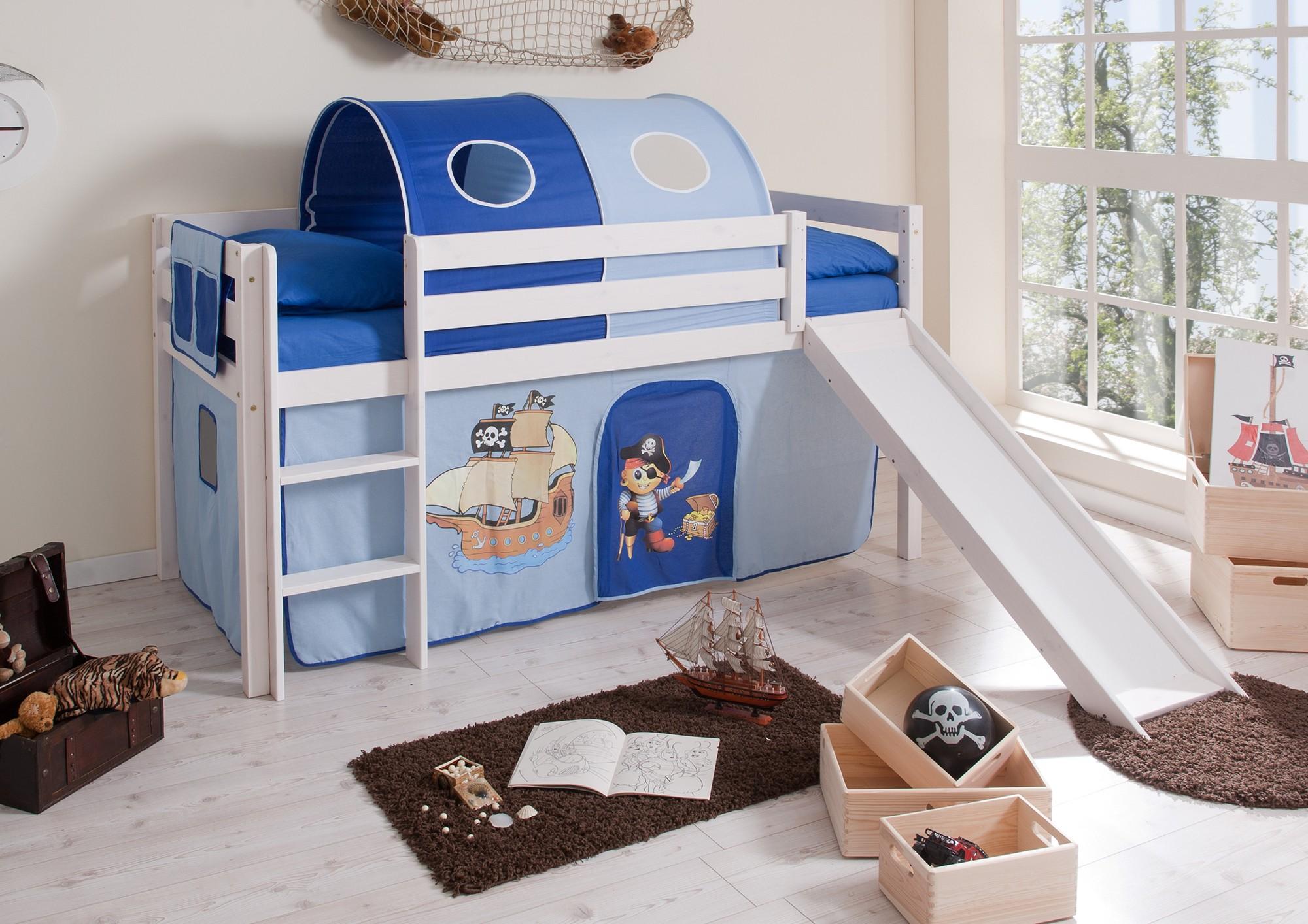 comprar cama bali con tobogan cortinas pirata azul y somier-2