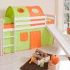 comprar cama bali con tobogan cortinas verde naranja y somier-1