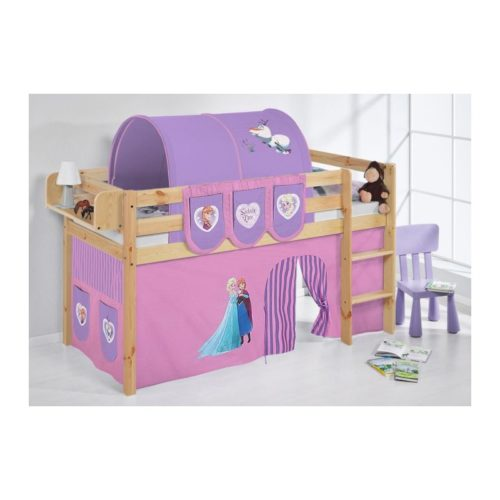comprar cama bali natural con cortinas frozen lila y somier