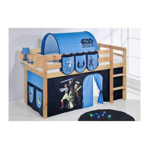 comprar cama bali natural con cortinas star wars y somier