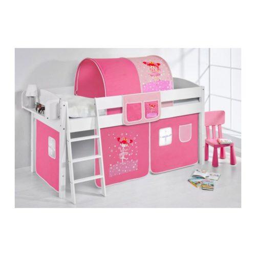 comprar cama corcega con cortinas bailarina rosa y somier