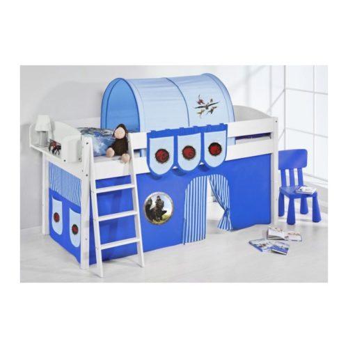 comprar cama corcega con cortinas dragon azul y somier