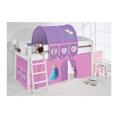 comprar cama corcega con cortinas frozen lila y somier