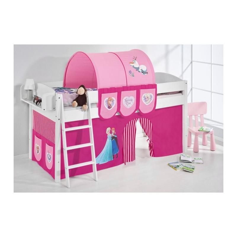 comprar cama corcega con cortinas frozen rosa y somier