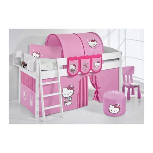 comprar cama corcega con cortinas hello kitty rosa y somier