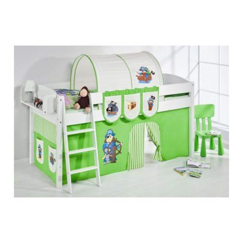 comprar cama corcega con cortinas pirata verde y somier