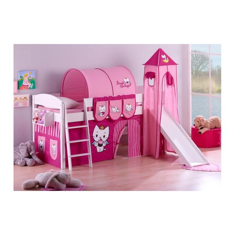 comprar cama corcega con tobogan cortinas angel cat sugar y somier