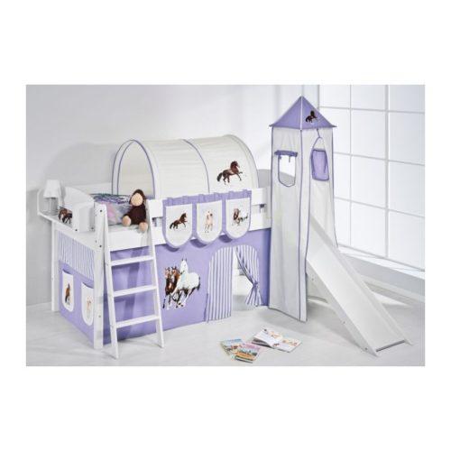 comprar cama corcega con tobogan cortinas caballo lila y somier