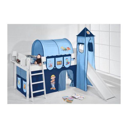 comprar cama corcega con tobogan cortinas chico bob azul y somier