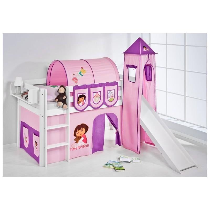 comprar cama corcega con tobogan cortinas dora la exploradora y somier
