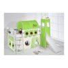 comprar cama corcega con tobogan cortinas dragon verde y somier