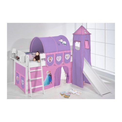 comprar cama corcega con tobogan cortinas frozen lila y somier