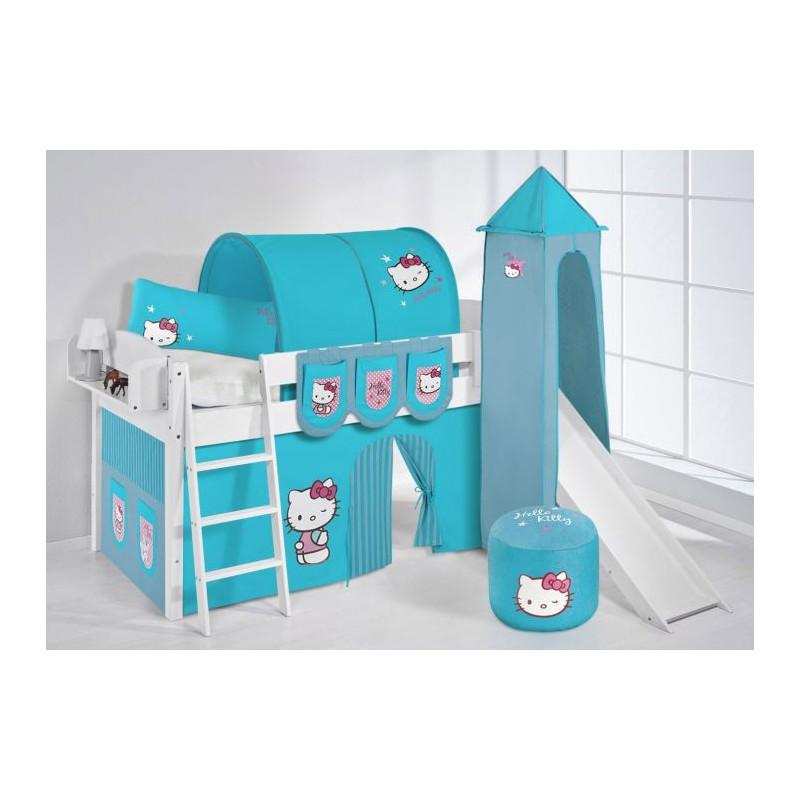 comprar cama corcega con tobogan cortinas hello kitty azul y somier