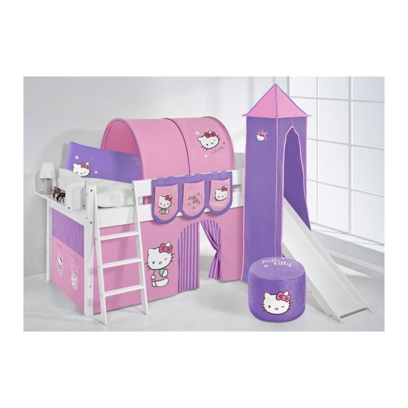 comprar cama corcega con tobogan cortinas hello kitty lila y somier